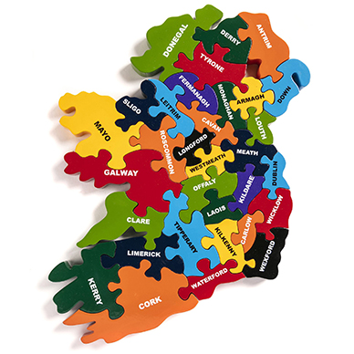 Alphabet Jigsaws Map of Ireland